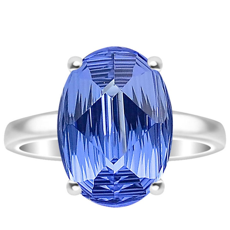 Royal Blue Tanzanite 925 Sterling Silver Ring Jewelry,Wedding Ring,Anniversary Ring,Promise ring