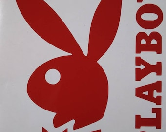 5b8fa03335 Playboy bunny adult Decal Transfer Sticker for car or truck window yeti  tumbler coffee mug in any color or size