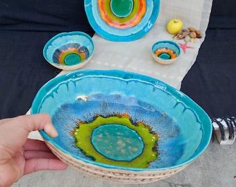 Ceramic and Pottery Housewarming Gift Handmade Ceramic Unique Gift Art Bowl Gift For Her Kitchen Decor Modern Fruit Bowl Home Decor