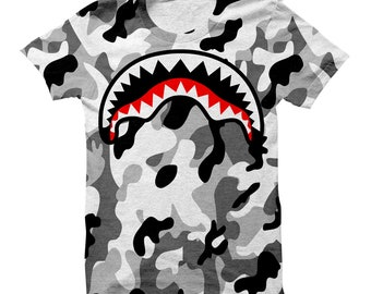 148f9068894d Shark Mouth Camo Shirt | Shark Mouth | Camo Shirt