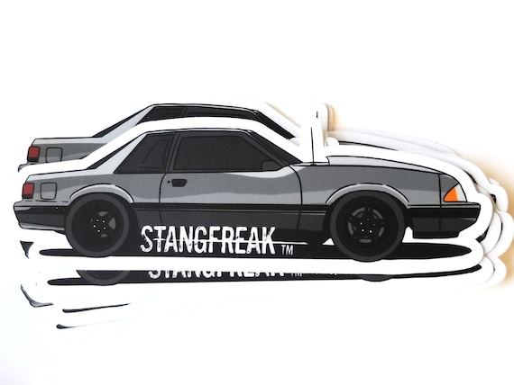 for Ford Mustang Fox Body notchback 1987-1993 2x Custom YOUR TEXT car stickers