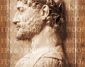Aurelius Antoninus Pius| Custom Designed | Digital Laser Cut file | Glowforge | PNG | Antique | 3D | Vintage | Gregorio di Lorenzo