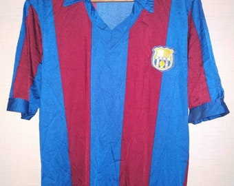 555c8b2f6 FC Barcelona Vtg vintage jersey shirt L XL Soccer Retro polyamide Made in  Spain replica maglia camiseta Barca old rare football soccer sport