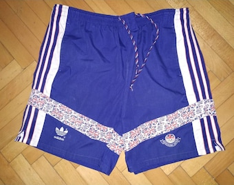 e97f22084fe0a Adidas Vintage 1992 Olympic Barcelona Games Great Britain Team Size 36  Shorts athletic short pants retro rare sport polyester cotton Royal
