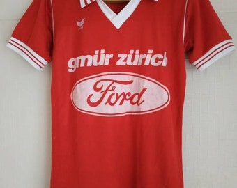 1aee4f8ea25 Erima West Germany vtg Vintage Shirt Jersey sport football soccer retro 80s  rare size S small klein maglia camiseta red number 15 Zürich