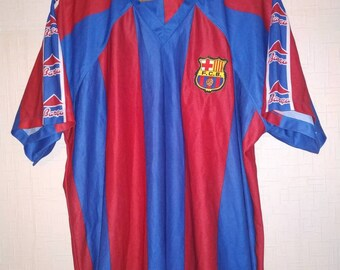 88505e9cc74 FC Barcelona De la pena vintage jersey shirt size L Soccer Retro replica  maglia camiseta Barca old rare Roger's SL Kappa number 23 vtg