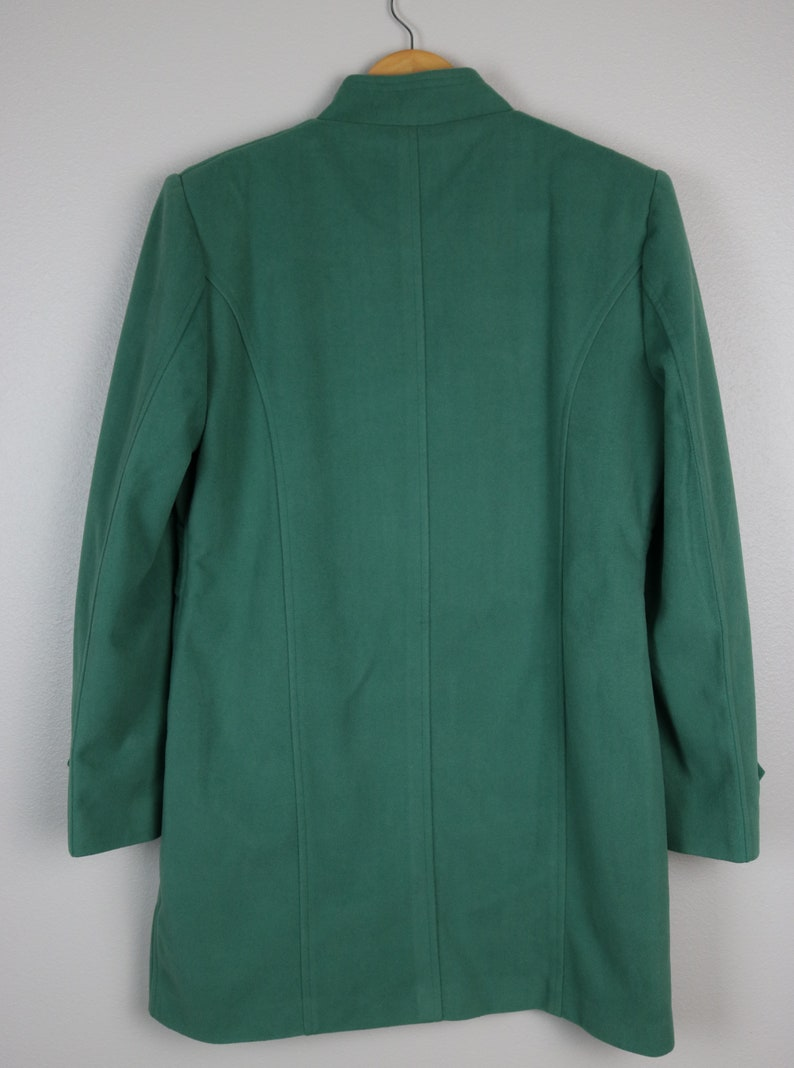 GreenTealTurquoise Wool Blend Coat Beautiful and Amazing