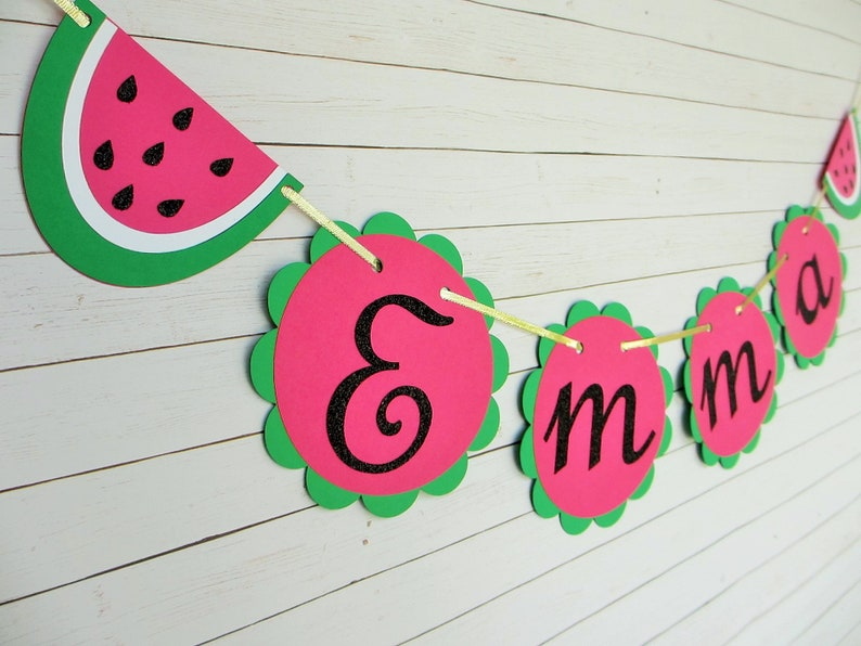 Watermelon Custom name Banner