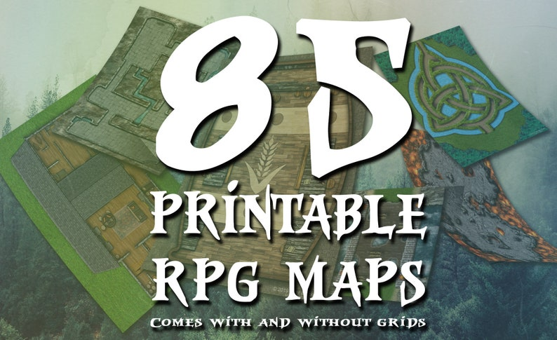 image about 2d Printable Terrain called 85 Printable Combat Maps! Dungeons, Caverns, Taverns, and extra! With and without the need of grids Dungeons and Dragons Video game Terrain Match Tiles