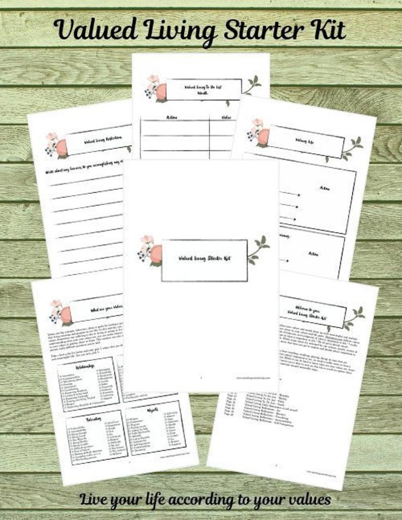 Valued Living Starter Kit Printable Planner US Letter image 0