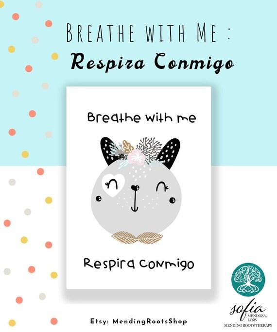 Breathe With Me Respira Conmigo Bilingual Spanish Digital Etsy