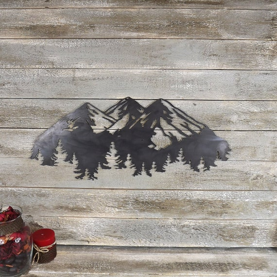 The Mountains Are Calling Metal Wall Art Etsy