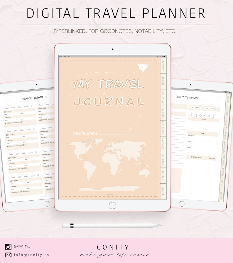 DIGITAL TRAVEL PLANNER l Trip planner Vacational planner image 0