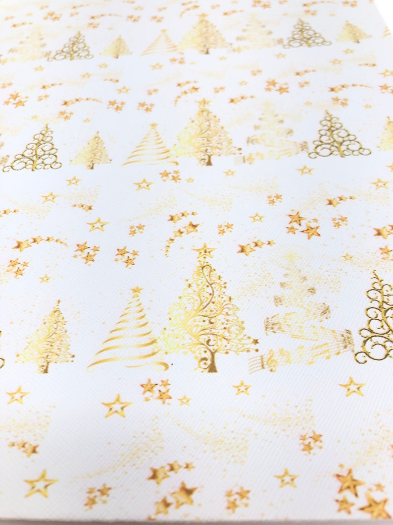 diy Earrings CHRISTMAS TREES /& STARS Faux Leather Sheets Faux Leather Sheets Hair Bow Making Supplies Christmas Faux Leather Sheets