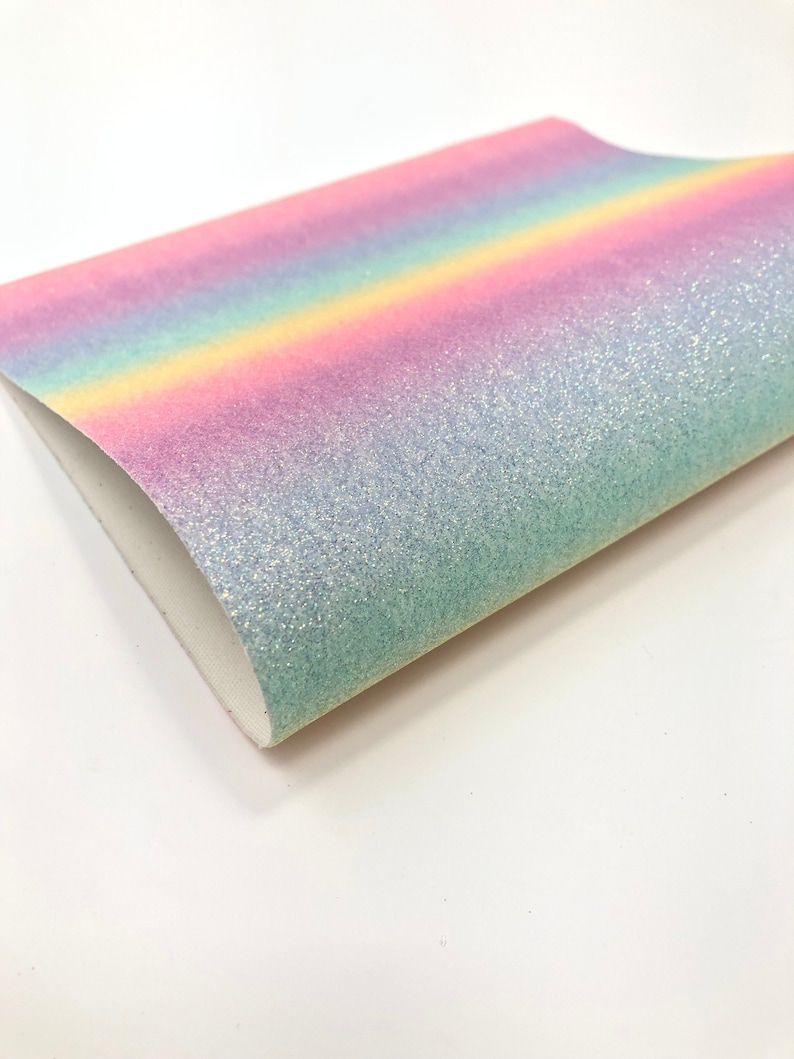Bow Making Glitter Sheets Earring Making Glitter Sheets PASTEL OMBRE Glitter Sheets Rainbow Leather Sheet