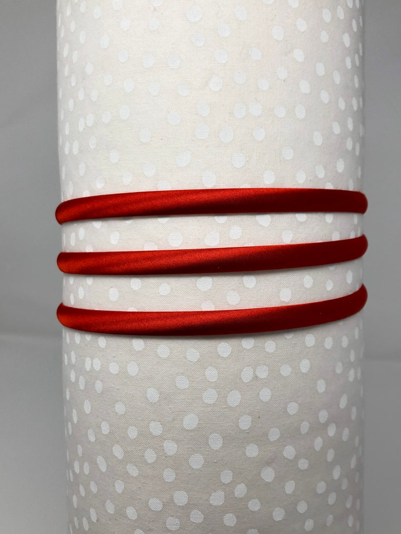 Baby Headband Supply Red Headband for DIY Satin Red 8mm Hairband Hair Accessory Supply Blank Hairband for DIY