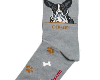 42bb7af2766e Corgi Black Dog-Socks Mens