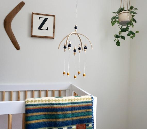 Navy and White. Baby Nursery Mobile Minimalist Nursery Minimalist Mobile Wood Mobile Nursery Decor Crib Mobile