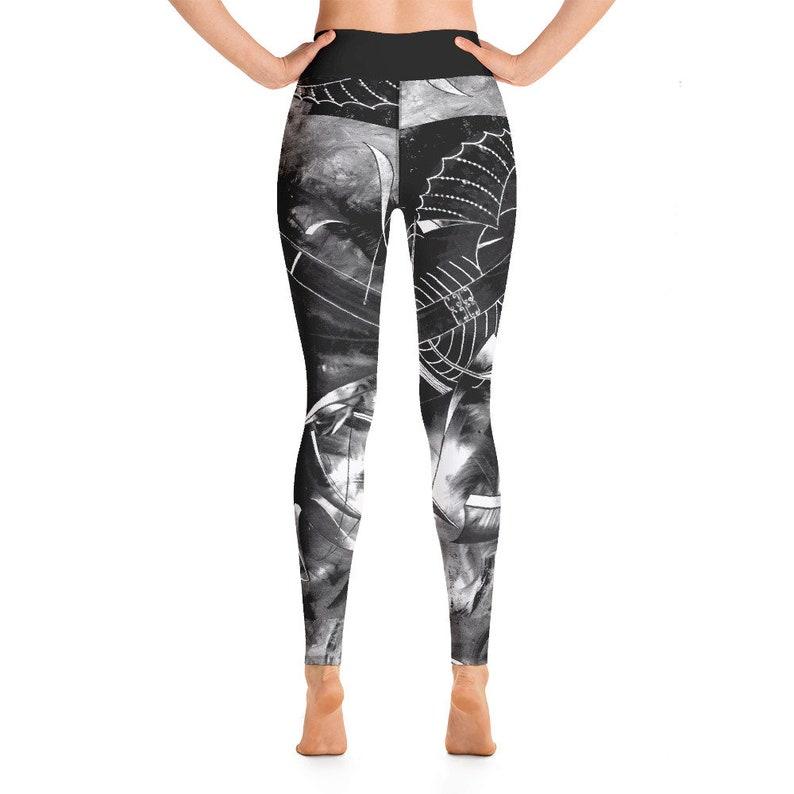 Women leggings   Yoga pants  African art Yoga pants  Unique Original artwork on leggings