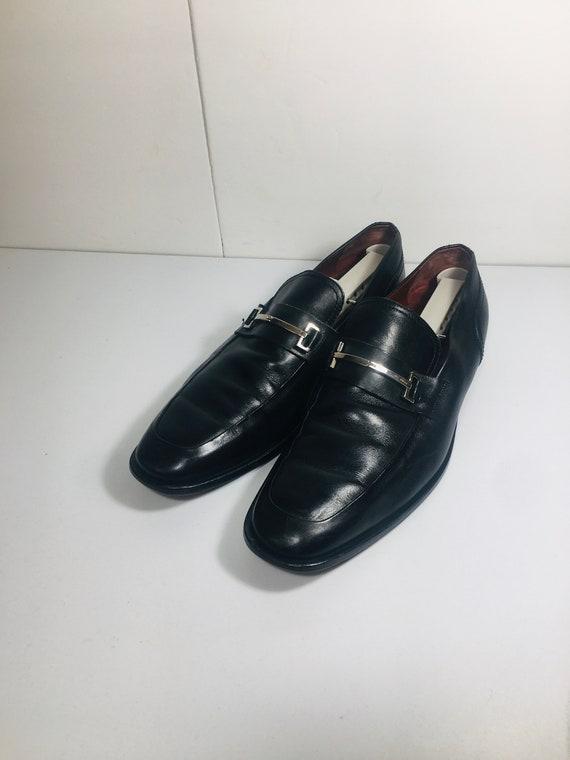 Gucci Men's Loafers Silver Horsebit Shoes
