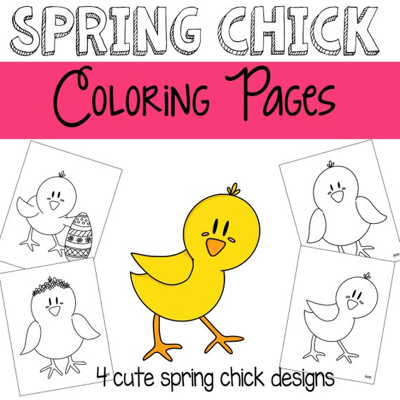 Baby Chick Coloring Pages - GetColoringPages.com | 570x570