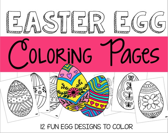 Easter Coloring Pages for Kids - Crazy Little Projects | 453x570