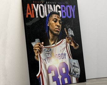a9de4e3f9 NBA AI Youngboy Canvas Print, Home Decor, Birthday Gift, Best Friend Gift,  Printable Wall Art, Gift for her, Framed Wall Art