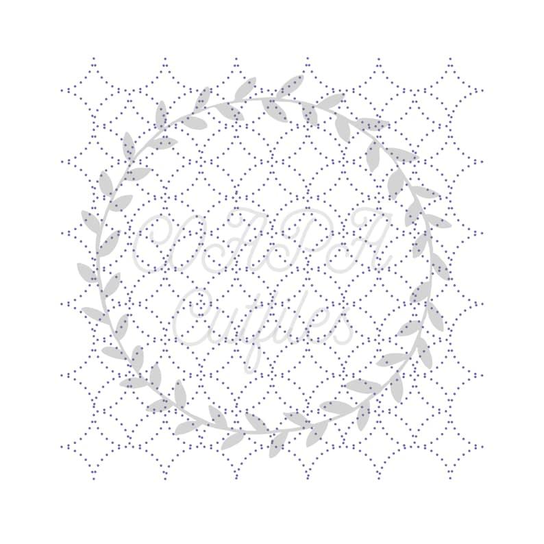 Stitched Diamonds Cut File SVG. PDF. png. image 0