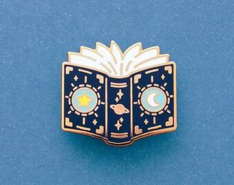 Cosmic Spellbook Enamel Pin | Hard Enamel Pin | RPG Inspired | Space Pin