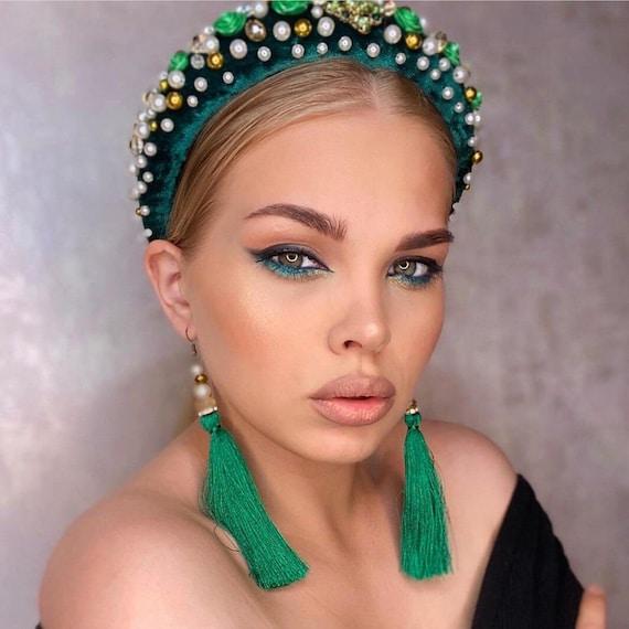 Women Girls Crown Crystal Headband Headwear Ornament Rhinestone Hair Band Greart