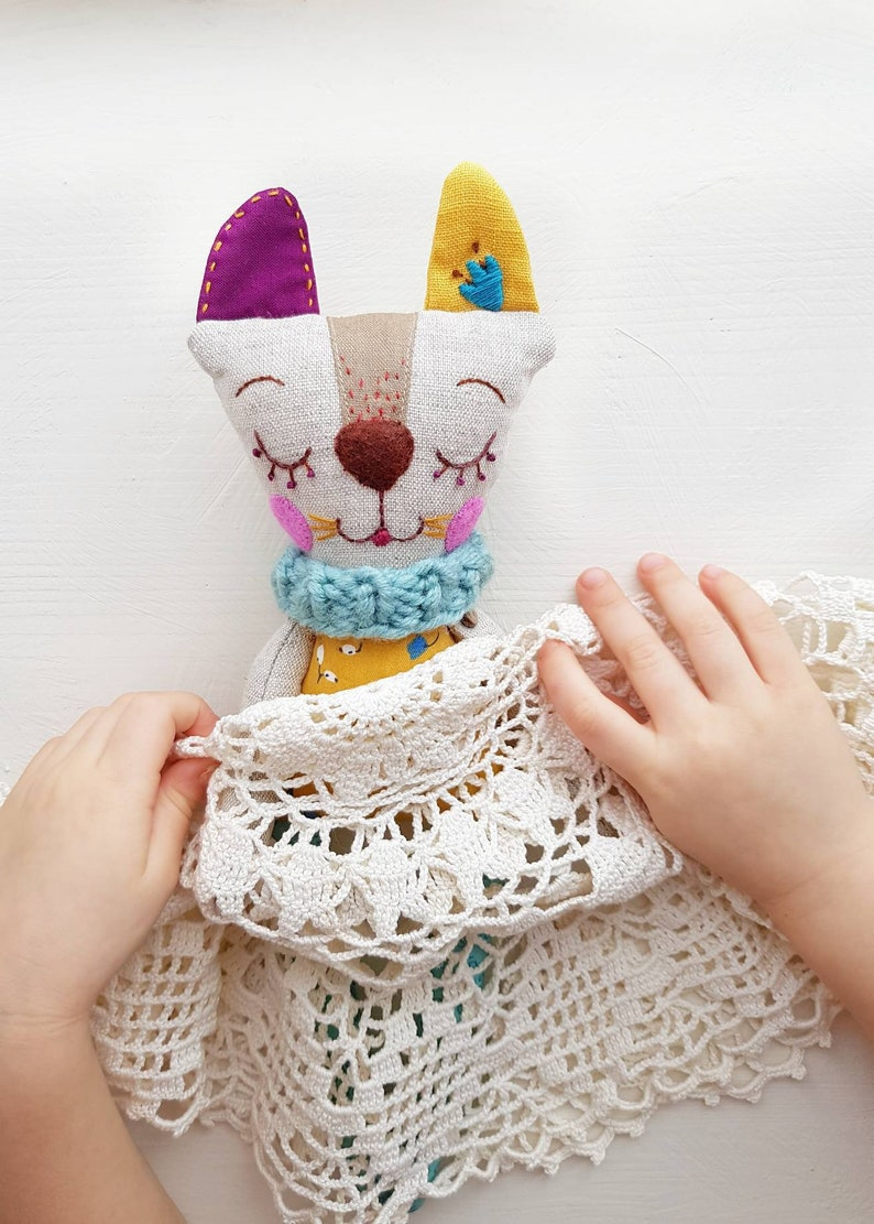 Textile Cat Linen Toy Perfect Birthday Gift For Girl