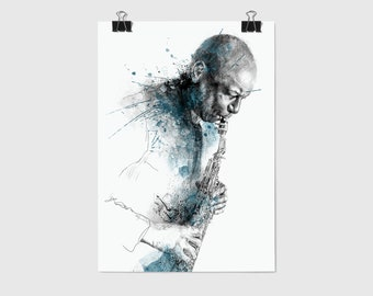 Branford Marsalis - Poster Giclée Print