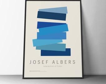 Josef Albert - Interaction of Color - Blue - Poster