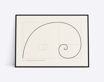 Fibonacci spiral, golden ratio, sectio aurea, divina proportio