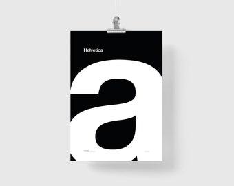 Helvetica. Illustration Poster Giclée Print