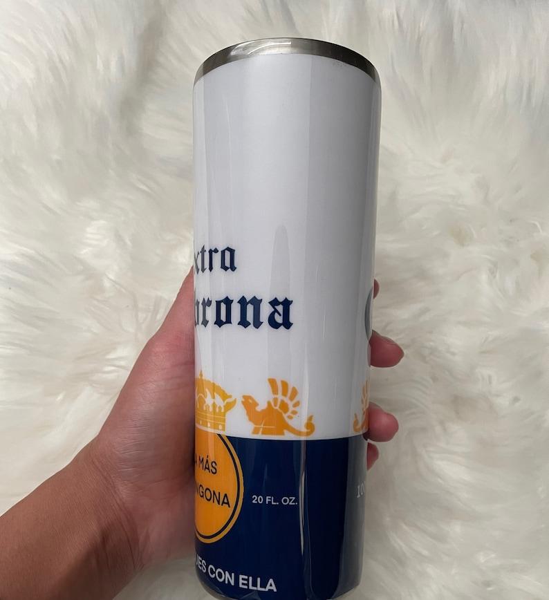 gift funny gift double wall tumbler drinkware custom tumbler 20oz skinny tumbler cup Spanish tumbler Extra cabrona tumbler beer