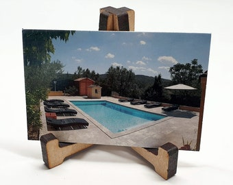 Easel Business Card holders (Pack of 2) Ideal to promote your cards on your desk. Laser cut Here in the UK.