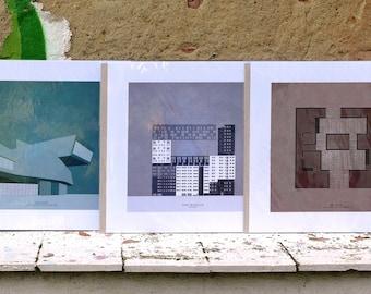 Architecture posters · Pósteres de arquitectura