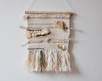 Wall hanging, weaving, gold, nude, interior decoration