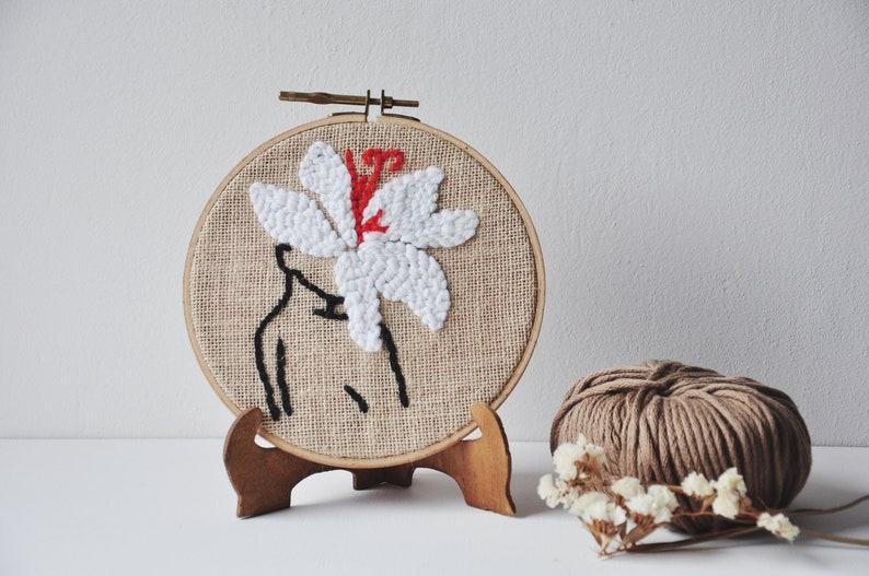 Brushed body embroidery punchneedle wall decoration image 0