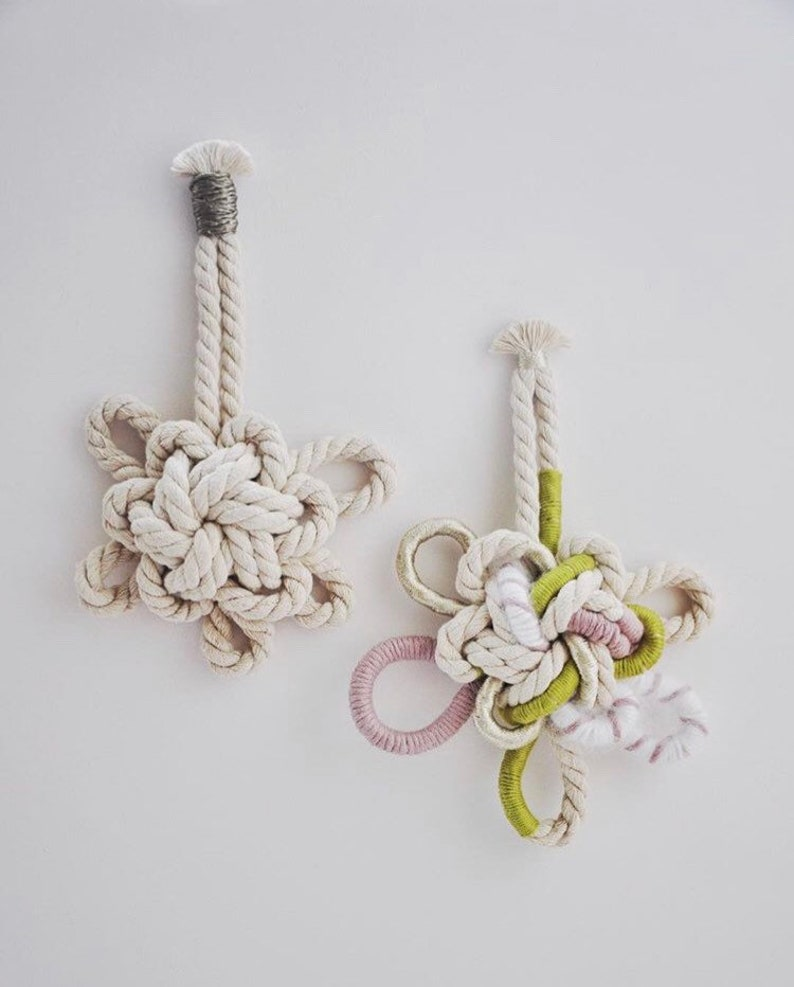 Decorative knots macrame wall decoration image 0