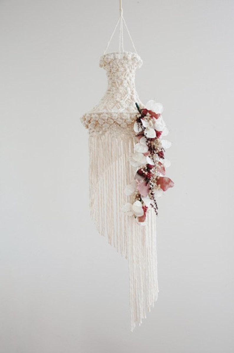 Macrame suspension mobile macrame Lampshade macrame image 0