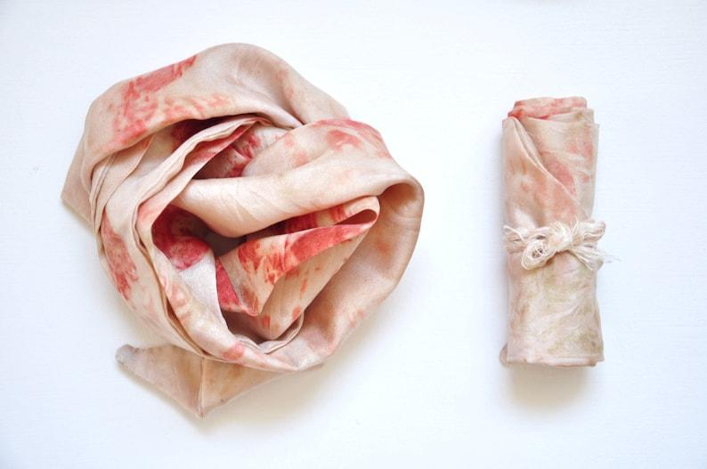 ISOBEL  Scarf silk headband naturally tinted vegetable image 0