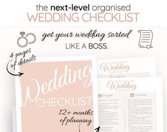 Checklist For Wedding.Wedding To Do List Etsy