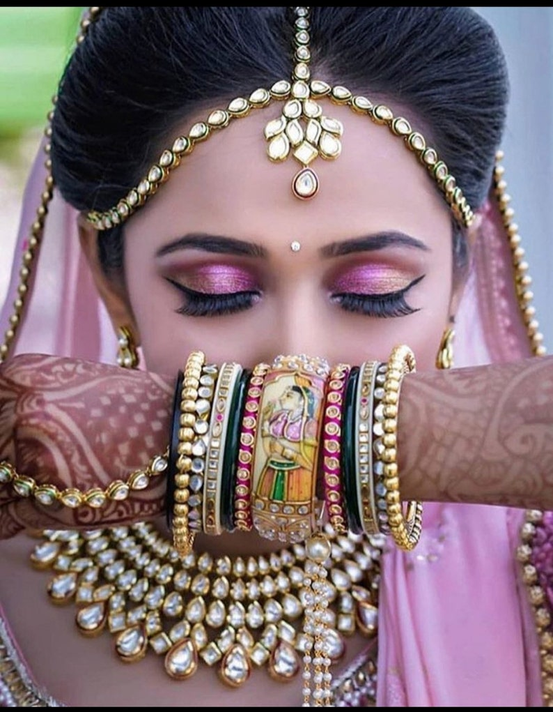 Sabyasachi Royal Indian Bridal Chura/Choora Bangles | Mughal Boho Bangle  For Wedding | Jodha Akbar Royal Chooda Bangle | hand accessories