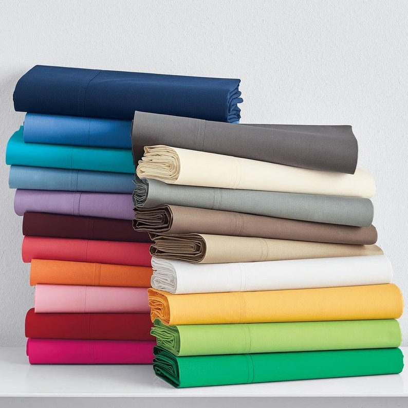 "Egyptian Cotton 1000 TC 1 PC Fitted Sheet 15/"" Deep Pocket All Size /& SOLID COLOR"