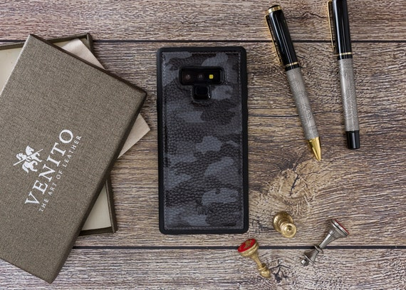 Venito Lucca Handcrafted Premium Leather Case, Snap On Back Cover For Samsung Galaxy S10+ Plus (6.4 Inch), S9, S9 Plus, Note9 In Camouflage by Etsy