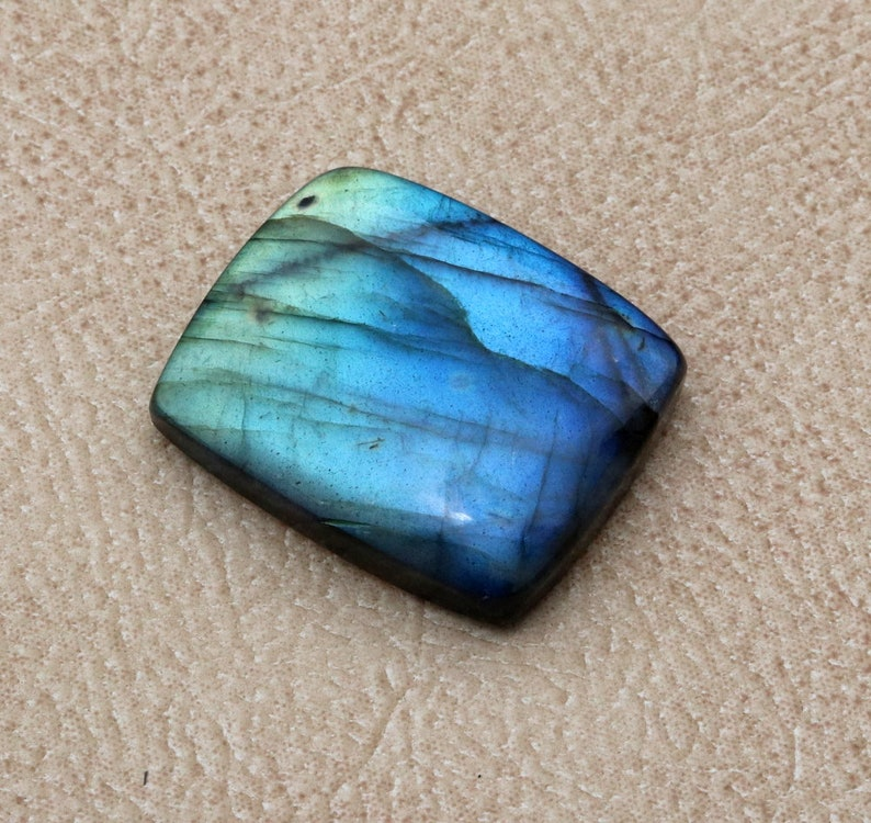 Best For Jewelery CODE CH98 30\u00d725\u00d76.7mm AAA Quality Multi Fire Labradorite Cabochon Loose Gemstone 51.60 carats cushion shape