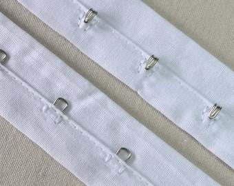 Silver Hook and Eye Cotton Tape Trim 3YD//Pack