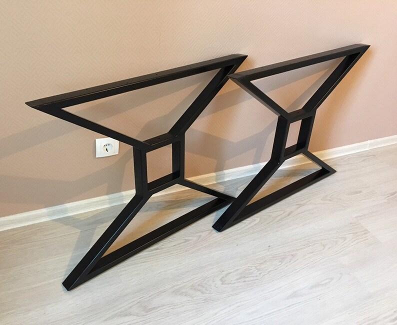 Steel table legs metal table rustic style industrial style